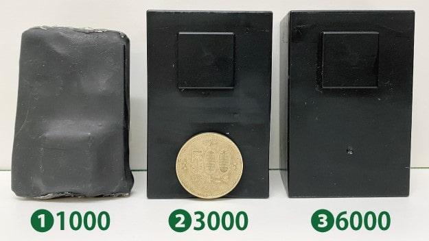 リアルタイムGPSの超小型・小型・大容量の大きさの違い