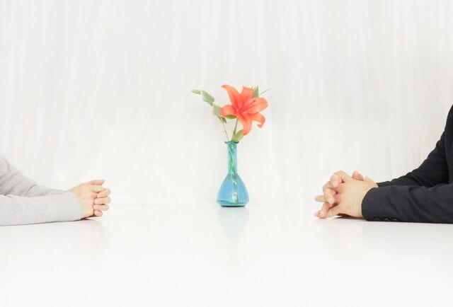 離婚について協議(話し合い)をしている夫婦