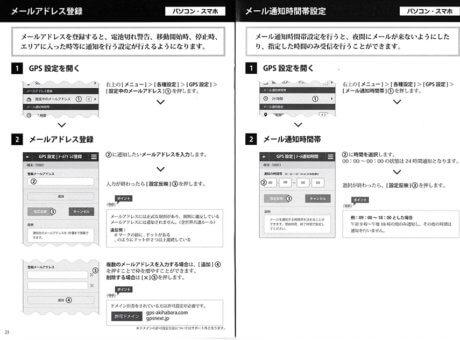 使い方|メールアドレス登録