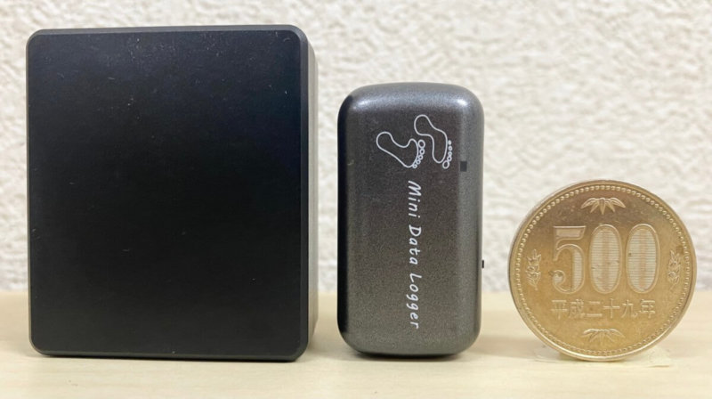 GPS発信器の種類(リアルタイムGPSとロガーと500円玉)
