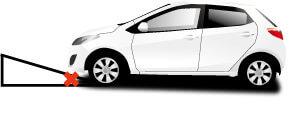 車の前部は、立体駐車場でひっかかる為、GPSは取り付けできない