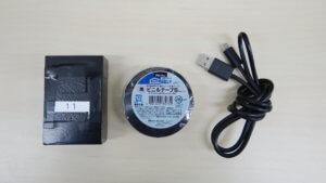 GPS端末と充電器、ビニールテープと充電器のセット